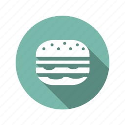 burger, fast food, hamburger icon