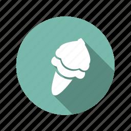 cold, food, ice cream, sweet, waffle icon