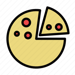 pepperoni, pie, pizza, slice icon