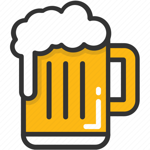alcohol, beer, beer mug, chilled beer, drink icon
