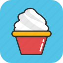 dessert, frozen food, ice cream, ice cream cup, sorbet icon