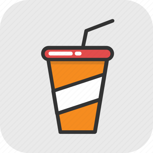 disposable, juice cup, smoothie, soft drink, straw icon