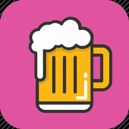 alcohol, beer, beer mug, chilled beer, drink icon