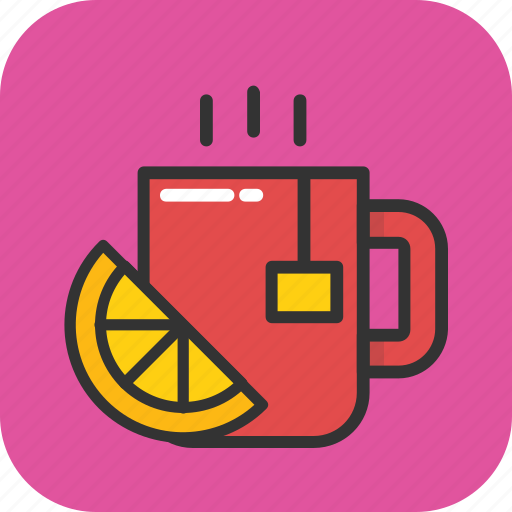 beverage, cup, green tea, hot tea, lemon tea icon