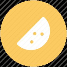 fresh fruit, fruit piece, healthy melon, melon slice, organic, watermelon, watermelon slice icon