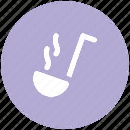 dipper, ladle, scoop, soup ladle, spoon icon