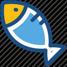 fish, food, healthy food, raw fish, seafood icon