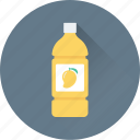 beverage, bottle, healthy, juice, mango juice icon