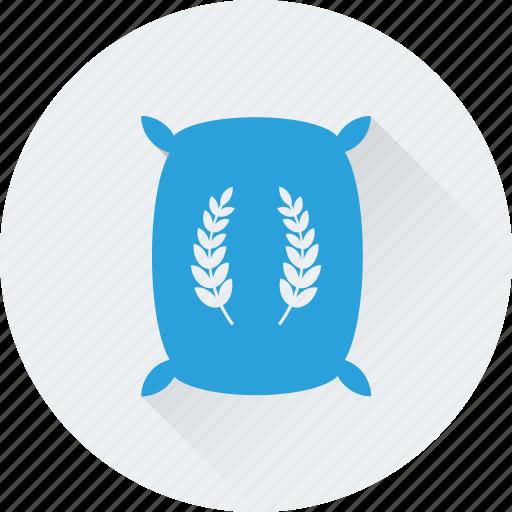 cereal, flour, grain, wheat, wheat sack icon