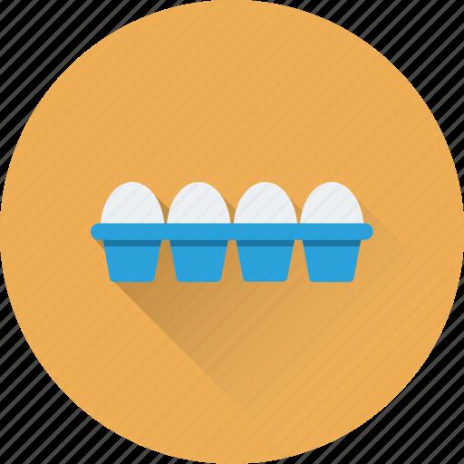 breakfast, eggs, eggs tray, food, nutrition icon