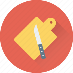 chopping, cutting board, kitchen, knife, utensil icon