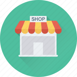 food shop, food store, kiosk, market, superstore icon