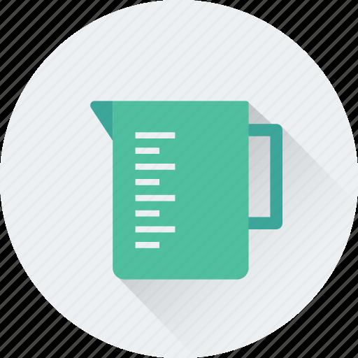 beaker, jug, kitchen, measuring, water jug icon