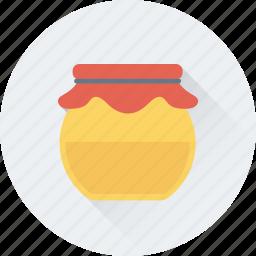 beeswax, food, honey, honey jar, organic icon