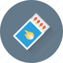 fire, flame, kitchen, matches, matchstick icon