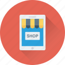 eshop, food shop, mobile, online order, smartphone icon