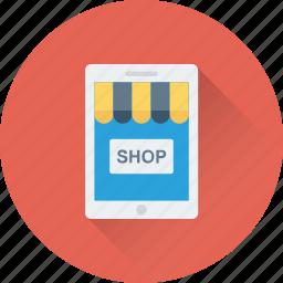eshop, food shop, mobile, online order, smartphone icon