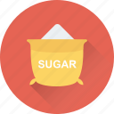 food, grocery, salt, sugar bag, sugar pack icon