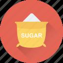 food, grocery, salt, sugar bag, sugar pack icon