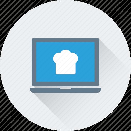 laptop, online food, recipe, restaurant, website icon