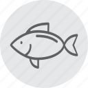 animal, diet, fish, healthy, organic, sea icon