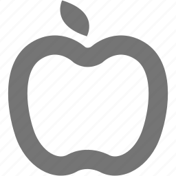 apple, autumn, diet, fruit, organic icon