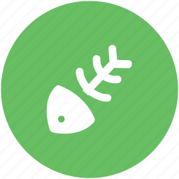 fish bone, fish eaten, fish skeleton, food, sea food icon