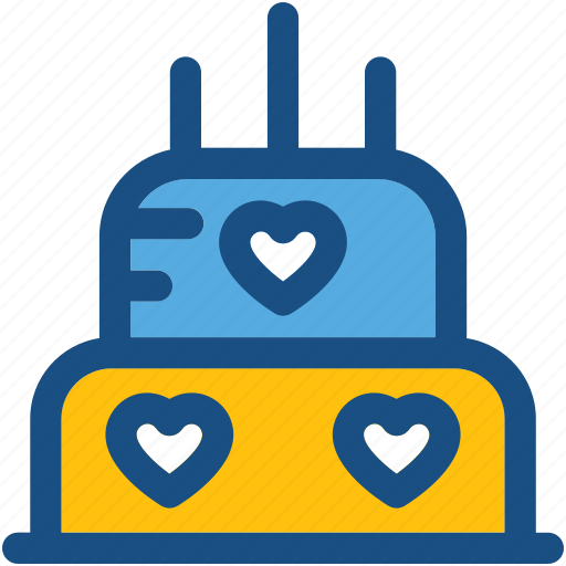 bakery, cake, food, valentine cake, wedding cake icon