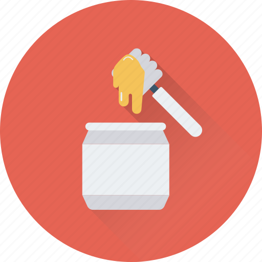dipper, food, honey, honey jar, organic icon
