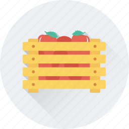 crate, food, fruits, grocery, supermarket icon