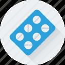 pills strip, supplements, tablets, pills, multivitamin icon