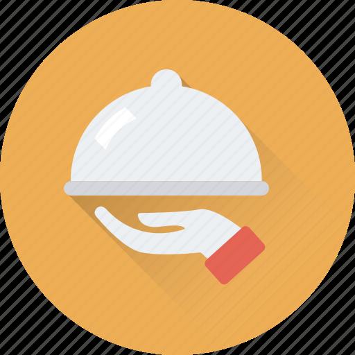 chef platter, food, food serving, platter, serving icon