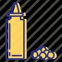 allergen, condiment, mustard, seeds icon
