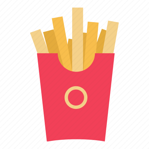 chips, fast food, food, french, french fries, fries icon