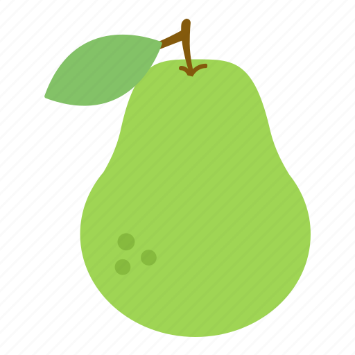 fruit, green, pear icon