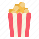 cinema, corn, meal, movie, popcorn icon