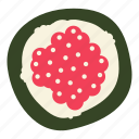 japanese food, roe, salmon, salmon roe, sushi icon