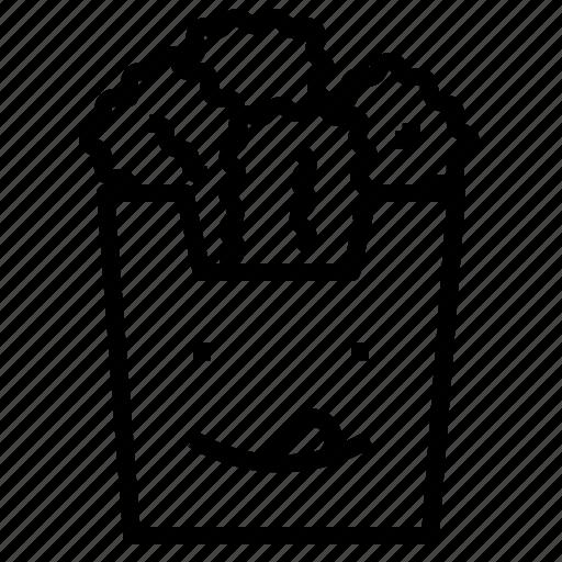 chicken, nugget icon