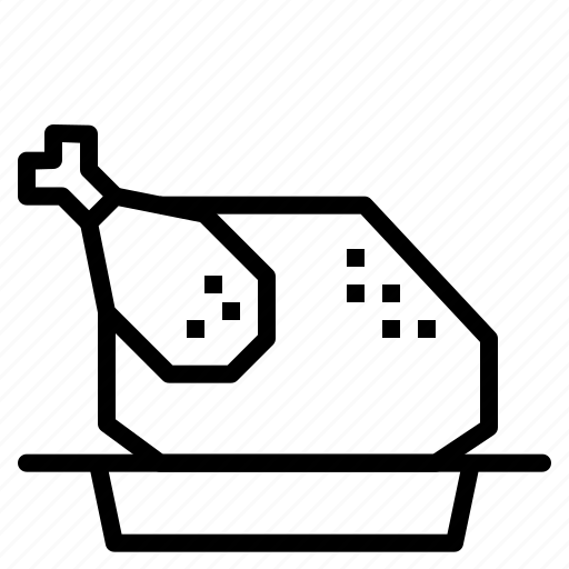 chicken, roast icon