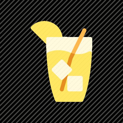 beverage, cake, cookies, food, ice tea, lemon tea icon