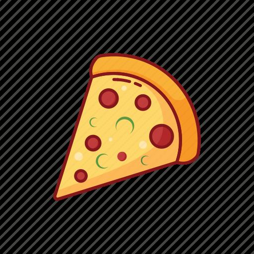 foods, italian, italy, line, pizza, street icon