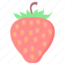 dessert, food, fruit, health, strawberry, sweet icon