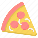 bread, fast, food, junk, meal, pizza, slice icon