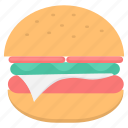 breakfast, burger, cheeseburger, fastfood, meal, sandwich icon