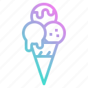 cold, cone, cream, frozen, ice, icecream icon