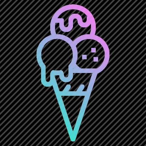 cold, cone, cream, frozen, ice, icecream icon