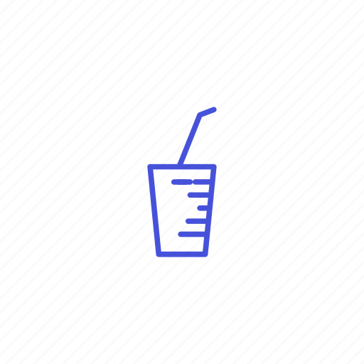 drink, glass, ice, straw, water icon