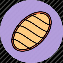 braided, bread, breakfast, food, loaf, wheat icon