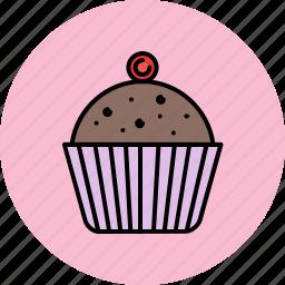 bake, chocolate, cupcake, dessert, sweet icon