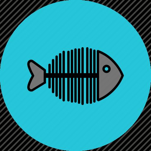 fish, food, sea, skeleton icon